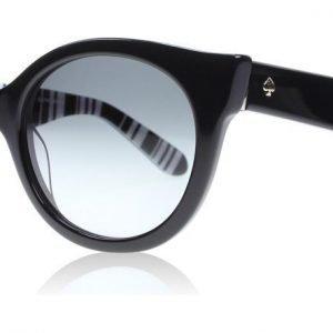 Kate Spade Melly S 01QCG9 Musta-raidallinen Aurinkolasit