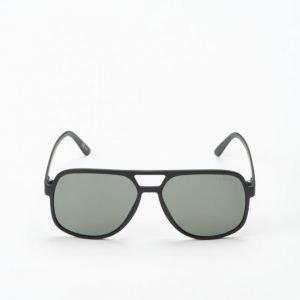 Le Specs Cousteau Matte Black Khaki Lens aurinkolasit
