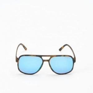 Le Specs Cousteau Matte Tortoise Blue Lens aurinkolasit