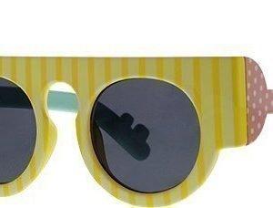 Le Specs Craig & Karl Houdini Gloss Yellow Stripe aurinkolasit