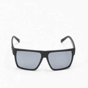 Le Specs Dirty Magic Black Rubber Silver Lens aurinkolasit
