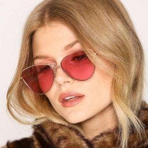 Le Specs Echo Aurinkolasit Kulta / Vaaleanpunainen