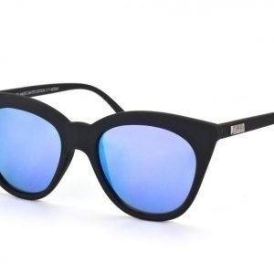 Le Specs Halfmoon Magic Black rubber with purple revo mirror aurinkolasit