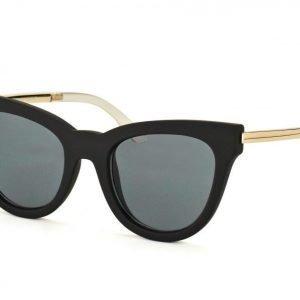 Le Specs Le Debutante Black Rubber aurinkolasit