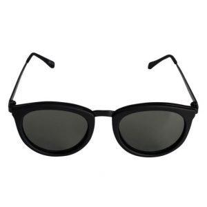 Le Specs No Smirking Black Rubber aurinkolasit