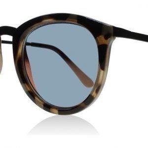 Le Specs No Smirking Kilpikonna-musta Aurinkolasit