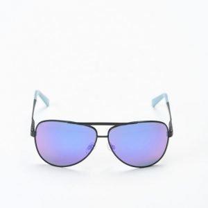 Le Specs Thunderbird Black/Blue Ice Lens aurinkolasit