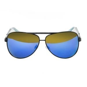 Le Specs Thunderbird Black/Blue Mirror aurinkolasit