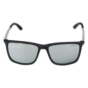 Le Specs Tweedlum Black Rubber aurinkolasit