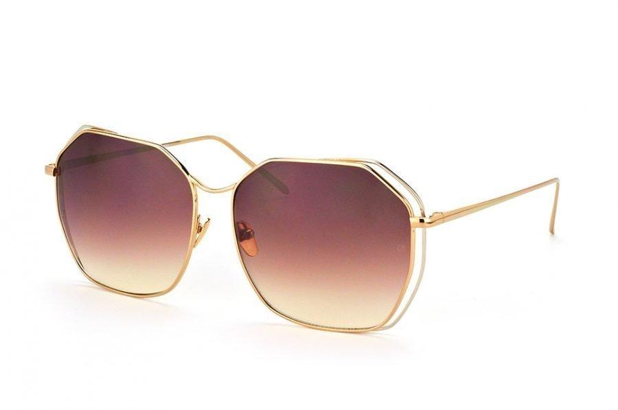Linda Farrow LF 350 White Gold Aurinkolasit