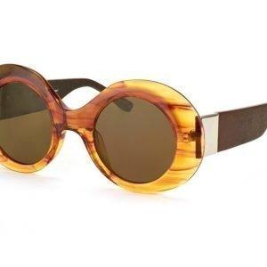 Linda Farrow RO 48 7 Mahogny Walnut Aurinkolasit