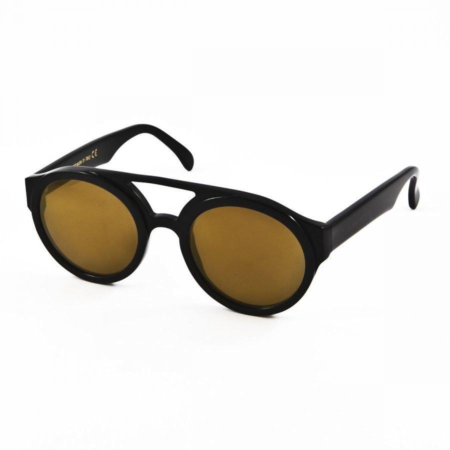 Lunettes Kollektion LK Bon Vivant-black gold mirror aurinkolasit