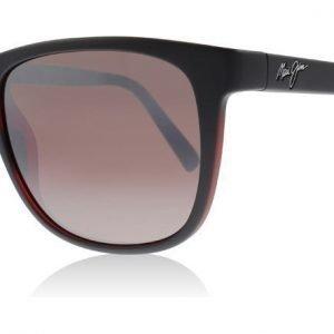 Maui Jim R740-02MB Matte Black / Red Matta musta-punainen Aurinkolasit