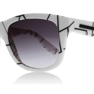McQ 0012S 007 Valkoinen-printti Aurinkolasit