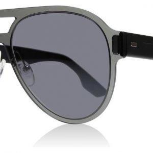 McQ 0022S 001 Harmaa-musta-hopea Aurinkolasit