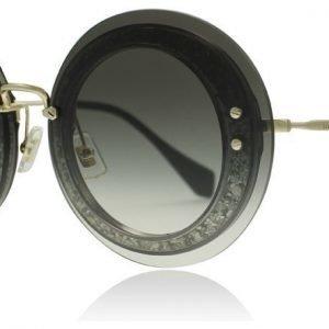 Miu Miu 10Rs 10RS UES0A7 Läpikuultava-hopea glitteri Aurinkolasit