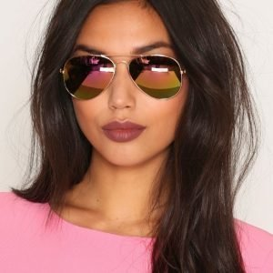 Nly Accessories Pilot Sunglasses Aurinkolasit Rose Gold / Pink