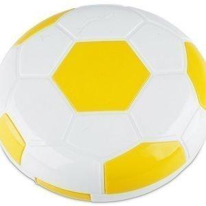 Piilolinssikotelo Football peilillä keltainen