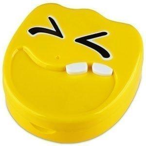 Piilolinssikotelo Smile peilillä keltainen