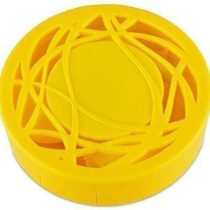 Piilolinssikotelo peilillä keltainen kuvio