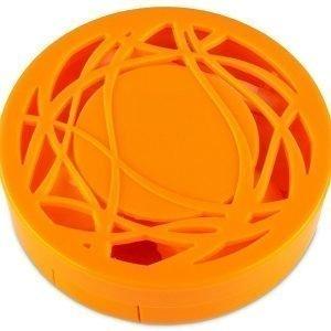 Piilolinssikotelo peilillä oranssi kuvio