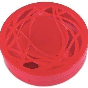 Piilolinssikotelo peilillä punainen kuvio