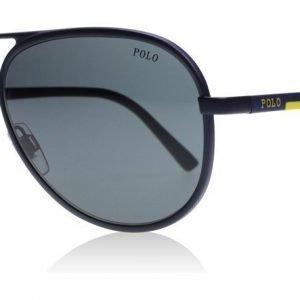 Polo 3102 911987 Tumma metallinen sininen Aurinkolasit