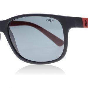 Polo 4109 524787 Matta musta-punainen Aurinkolasit