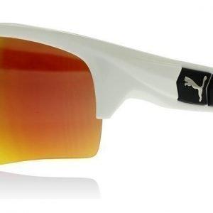 Puma 0056S 004 Valkoinen-oranssi Aurinkolasit