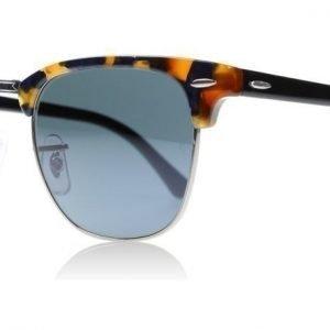 Ray-Ban 3016 Clubmaster 1158R5 Täplikäs sininen havanna Aurinkolasit