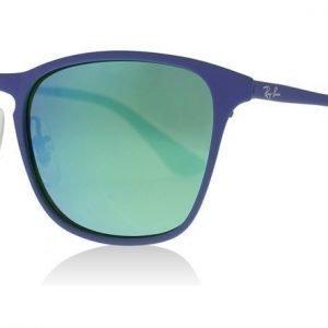 Ray-Ban Junior 9539S 255/3R Sininen-vihreä kumi Aurinkolasit