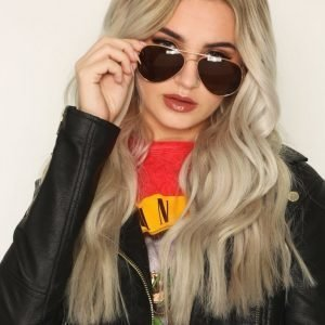 River Island Aviator Sunglasses Aurinkolasit Rose Gold