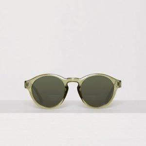 River Island Plastic Round Sunglasses Aurinkolasit Khaki