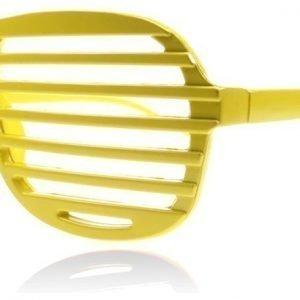 SXUC Shutter Shades Shutter Keltainen Aurinkolasit