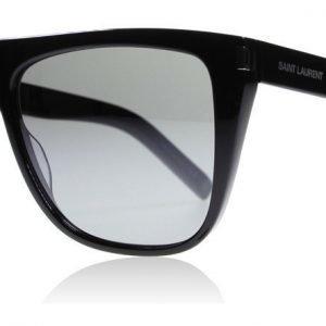 Saint Laurent SL1 001 Musta-harmaa Aurinkolasit