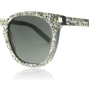 Saint Laurent SL28 009 Hopea-musta glitter Aurinkolasit