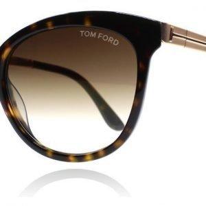 Tom Ford Emma 52G Kilpikonna-kulta Aurinkolasit