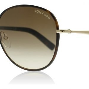 Tom Ford Georgia 0498 52F Tumma havanna Aurinkolasit