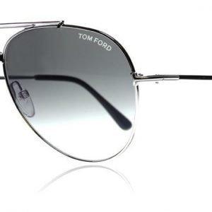 Tom Ford Indiana 0497 18B Kiiltävä rodium Aurinkolasit