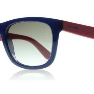Tommy Hilfiger 1313S X2D Sininen Punainen Puu Aurinkolasit