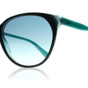 Tommy Hilfiger 1315S 1315 VR2 Musta Sininen Valkoinen Aurinkolasit