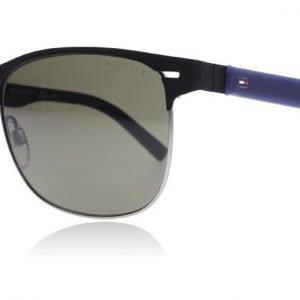 Tommy Hilfiger 1401/S R51 Matta musta-sininen Aurinkolasit
