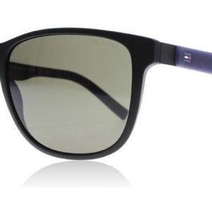 Tommy Hilfiger 1403/S R5Y Matta musta-sininen Aurinkolasit