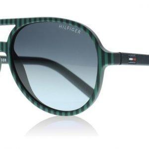 Tommy Hilfiger Junior 1221S 5TL Vihreä-sininen Raidallinen Aurinkolasit
