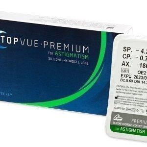 TopVue Premium for Astigmatism 1 kpl Tooriset piilolinssit