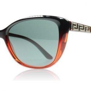 Versace 4264B 507587 Musta Punainen Liukuvärjätty Aurinkolasit