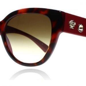 Versace 4314 518413 Tummanpunainen kilpikonna Aurinkolasit