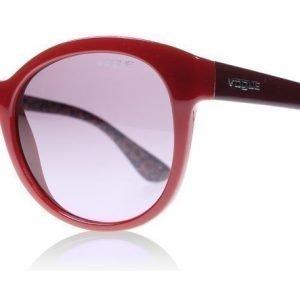 Vogue 2795s 2795S 23408H Tumma punainen Aurinkolasit