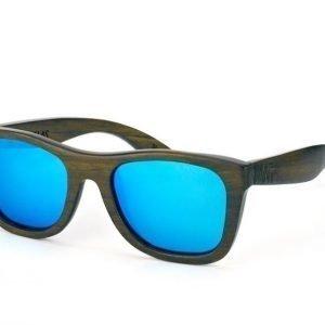 Wood Fellas Jalo Mirror 10499 brown-blue Aurinkolasit