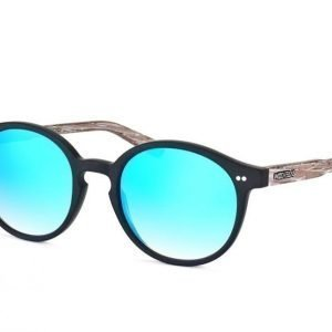 Wood Fellas Solln 10763 black/mirr.blue Aurinkolasit